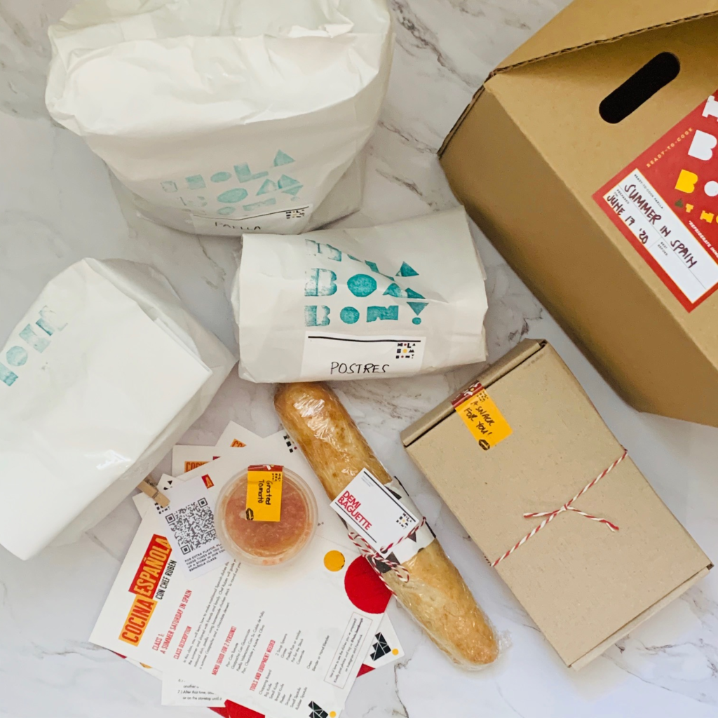 Each Spanish Cooking Class comes with a delivery of all needed ingredients