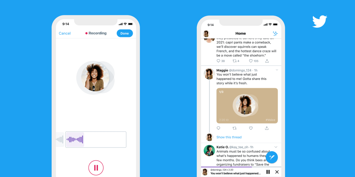 Twitter Rolls Out Voice Tweet Feature