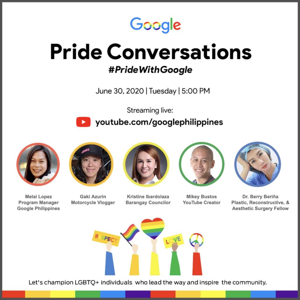 Google's Pride Conversations on June 30