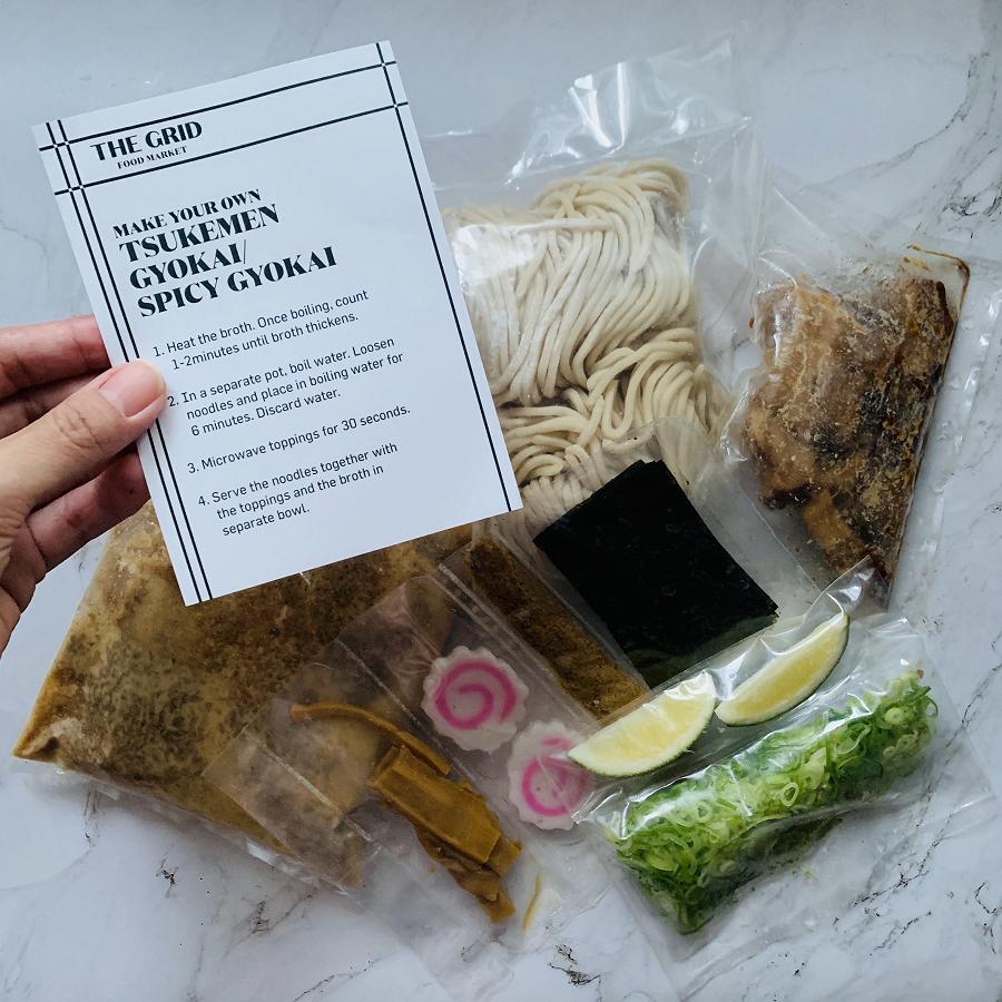Tsuke-Men at The Grid now offers Take Home Tsukemen kits