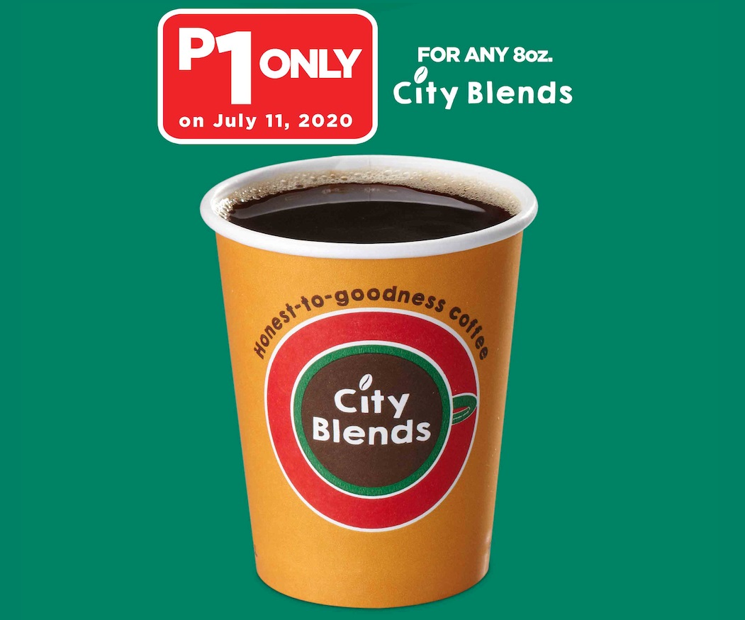One Peso City Blends Coffee at 7-Eleven await you on #711Day
