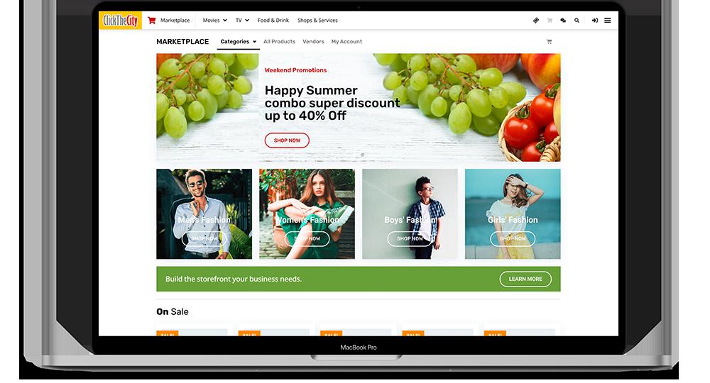 Marketplace on Macbook