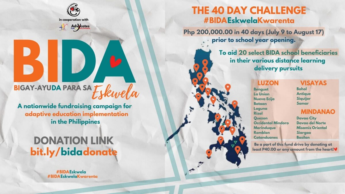 Volunteer Group Launches 'BIDA Eskwela' to Raise P200K in 40-days for Poor Schools
