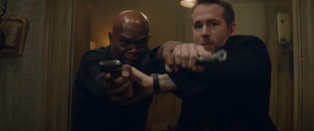 Ryan Reynolds and Samuel Jackson in The Hitman's Bodyguard