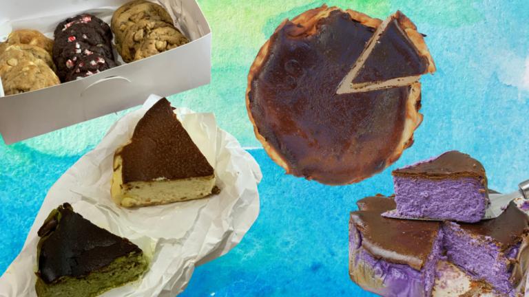 Twenty Four Bakeshop Cookies and Burn Basque Cheesecake