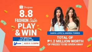 Catch the Shopee 8.8 and Get a Chance to Win P1.2 Million Worth of Prizes