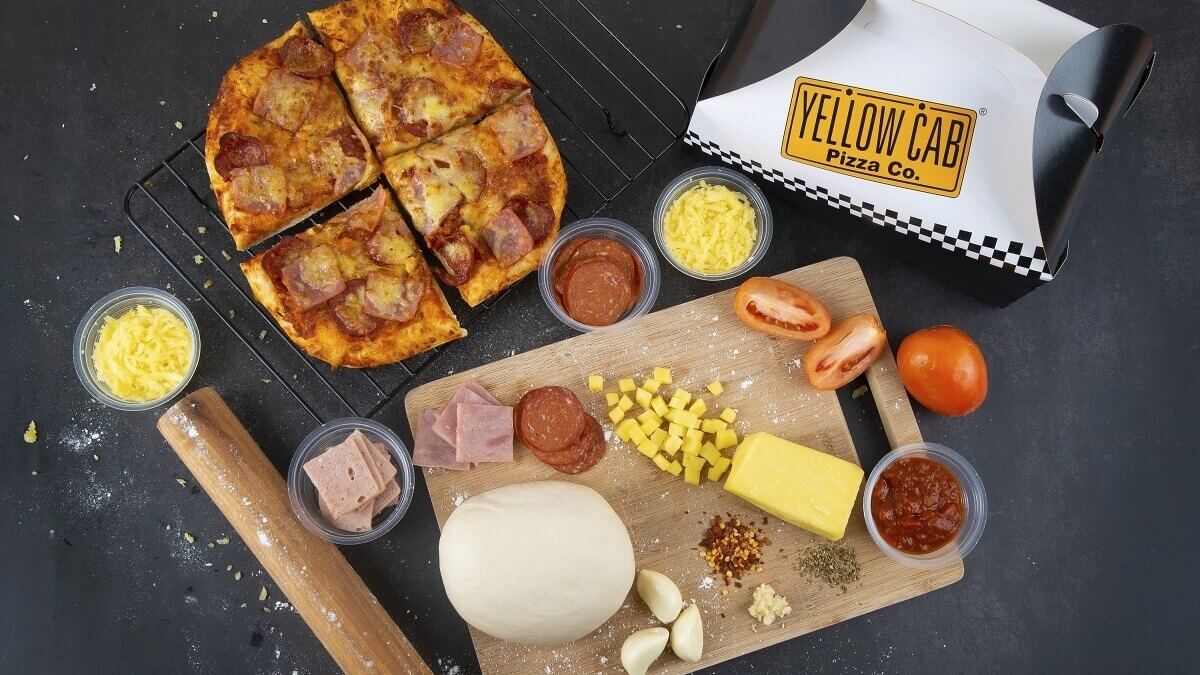 Prepare Your Own Pizza at Home with Yellow Cab's Pizza Kits!
