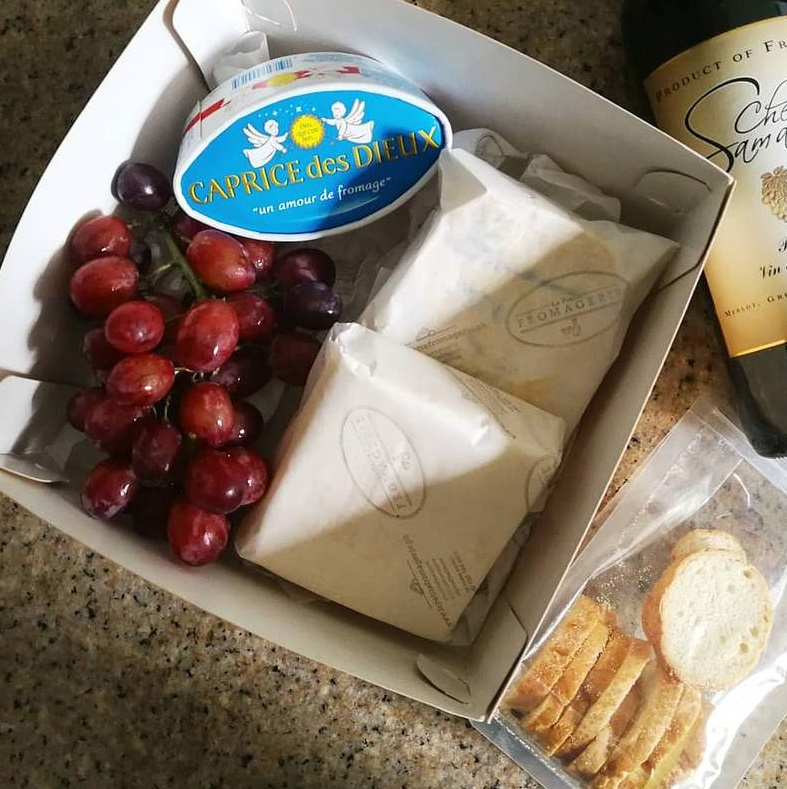 Cheese Box delivery for Wine and Cheese Class