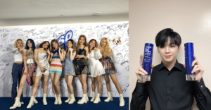 Twice and Kang Daniel at the 2020 Soribada Music Awards