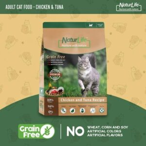 Naturlife Adult Cat Food – Chicken & Tuna Grain Free 6kg