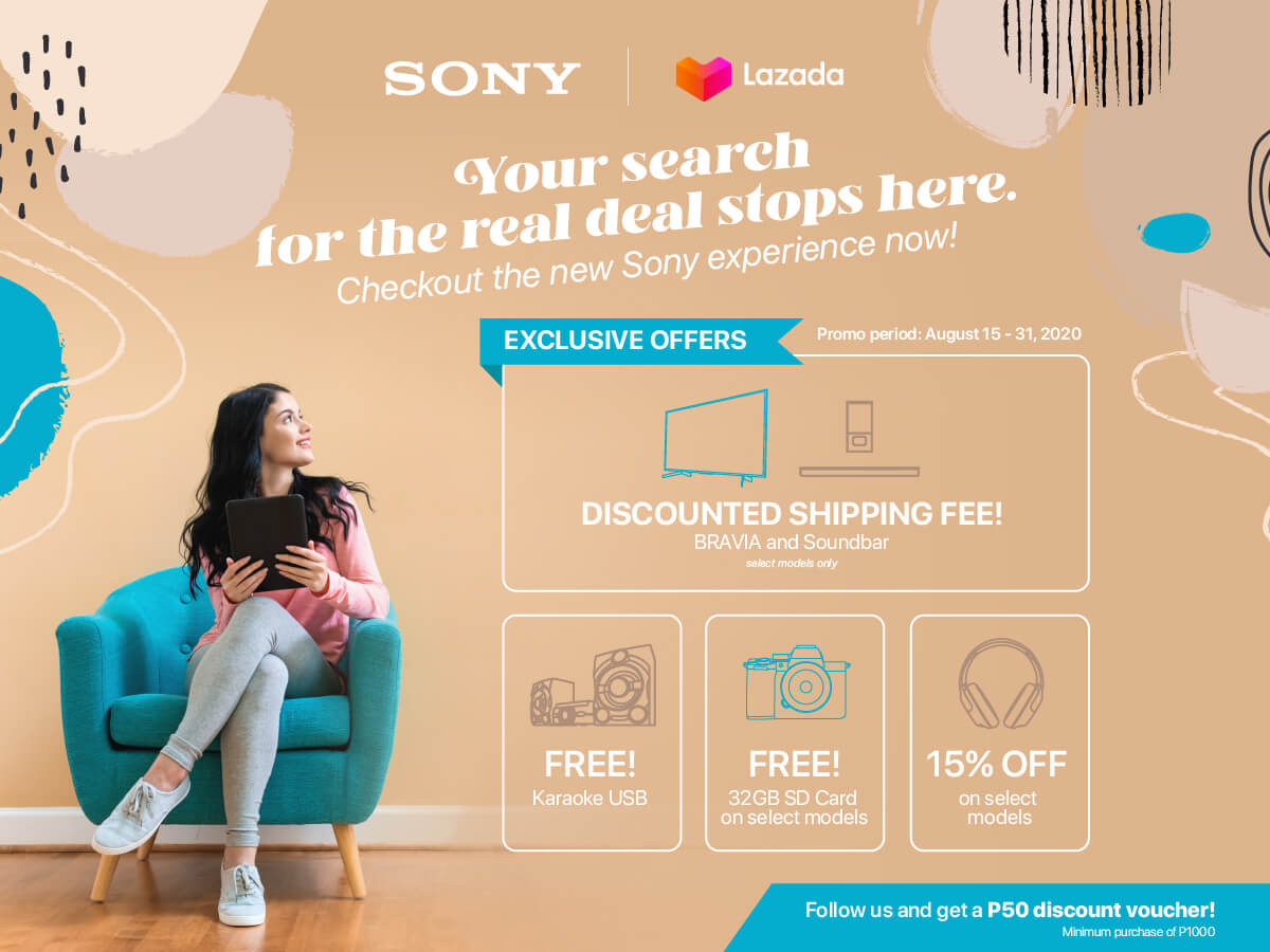 Get Awesome Deals When You Shop Sony Products on LazMall!