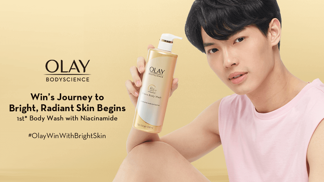 Win of '2gether: The Series' Joins Olay in his Journey for Bright and Radiant Skin
