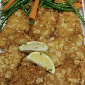 Almond Crusted Fish Fillet with Dill Mustard Sauce
