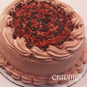 Mocha Praline Crunch Cake