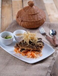 Seared Tilapia with Coconut Cream and Pineapple Relish