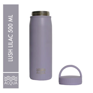 Acqua Classic 500ml (16 oz) Double Wall and Vacuum Insulated Stainless Steel Drinking Water Bottle/ Flask in Lush Lilac