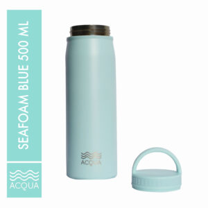 Acqua Classic 500ml (16 oz) Double Wall and Vacuum Insulated Stainless Steel Drinking Water Bottle/ Flask in Seafoam Blue