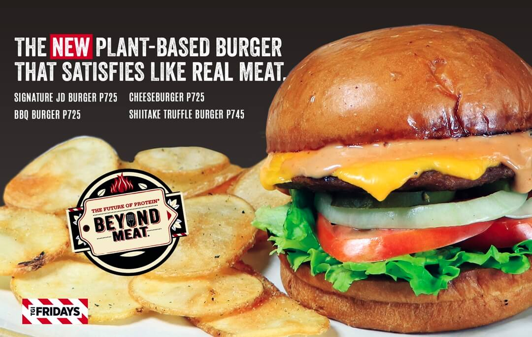 TGIFridays Now Offers Plant-Based Burgers