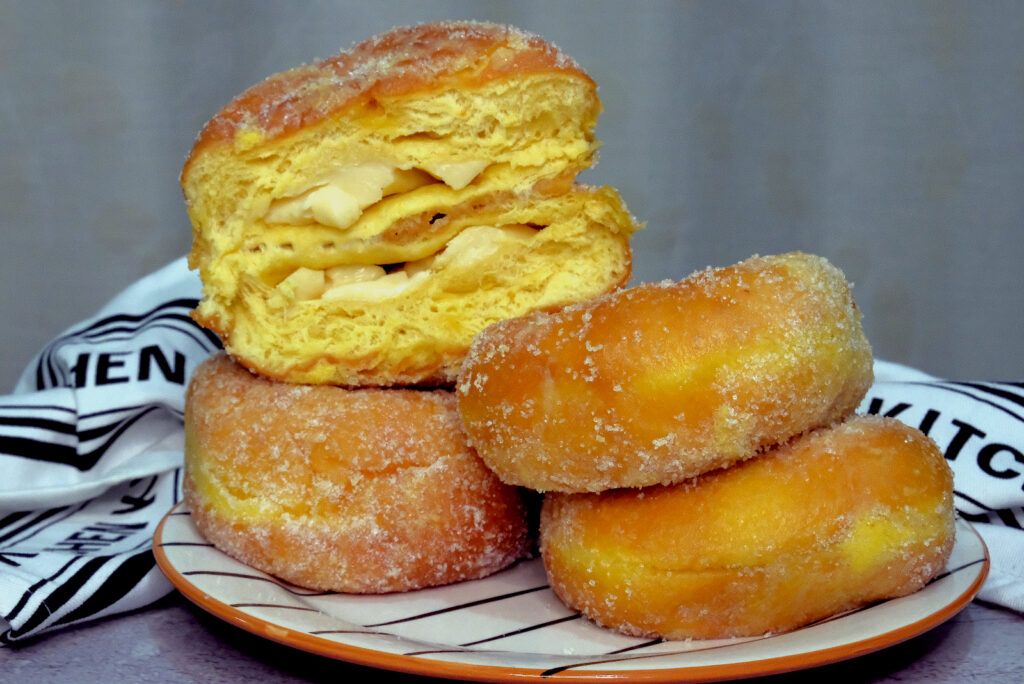 Lola Nena's Triple Cheese Old Fashioned Donuts