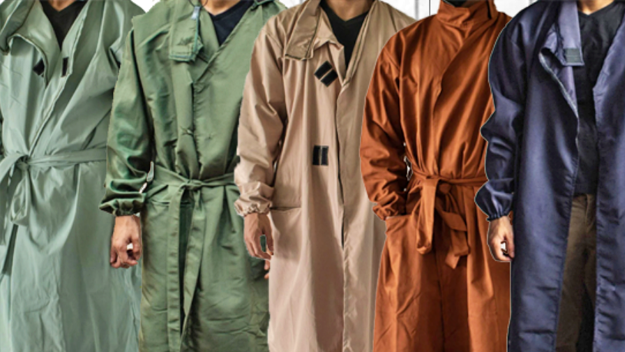 Check Out These Kimono PPE Suits & Head Loop Masks From Jacinto & Lirio