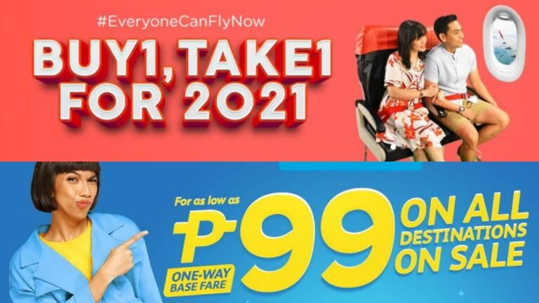 AirAsia, Cebu Pacific Air Announce Promos for Your Travels on 2021