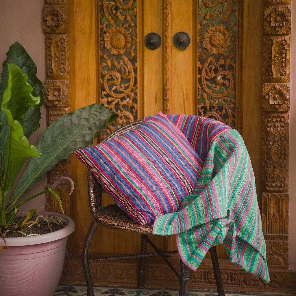 Handwoven Throw Pillow Cover