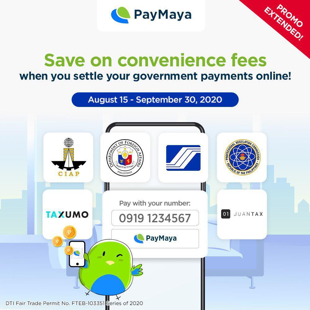 Paymaya Promo Government Fees