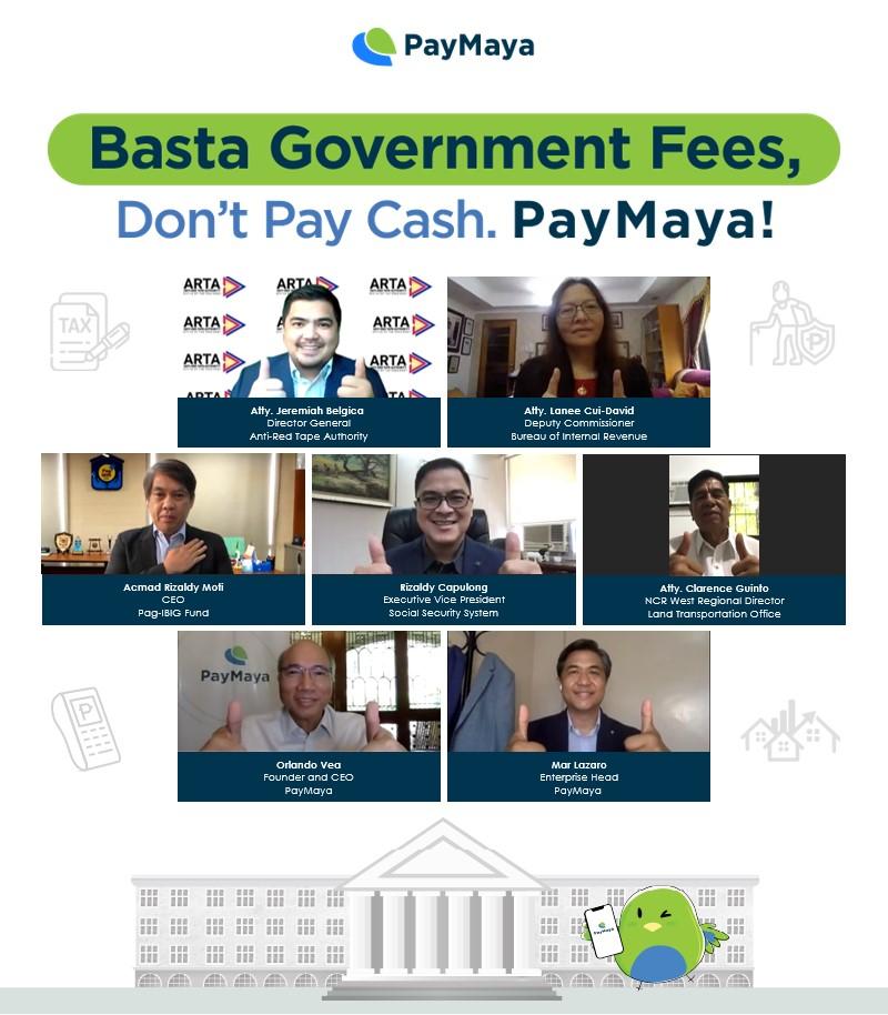 PayMaya Government Fees Virtual Presscon