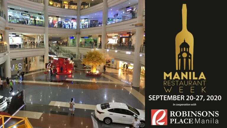 Robinsons Place Manila Joins Manila Restaurant Week