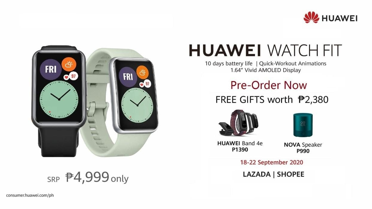 Huawei Watch Fit is the Newest Addition To Huawei's Wearable Line