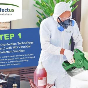One Time Disinfection Service with Floor Area of 30sqm to 99sqm @ Php 50.00/sqm