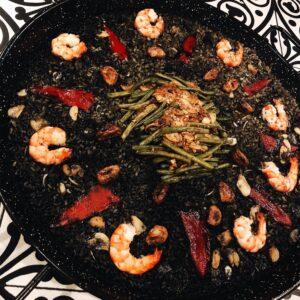 Yuan's Paella Negra with Aioli