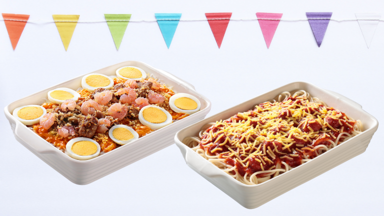 Jolly Spaghetti and Palabok are now available in shareable Family Pans!