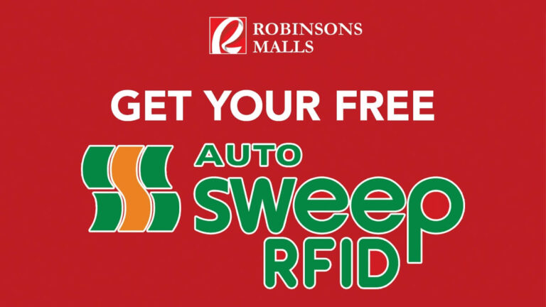Free Autosweep RFID Installation Offered at Robinsons Malls