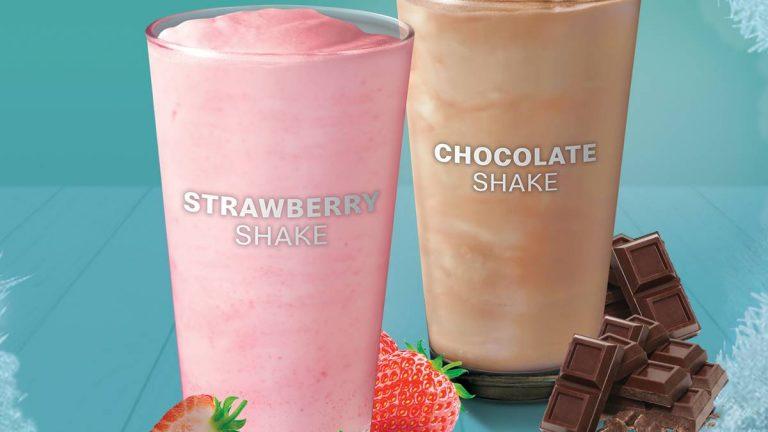 McDo Strawberry Shake Chocolate Shake