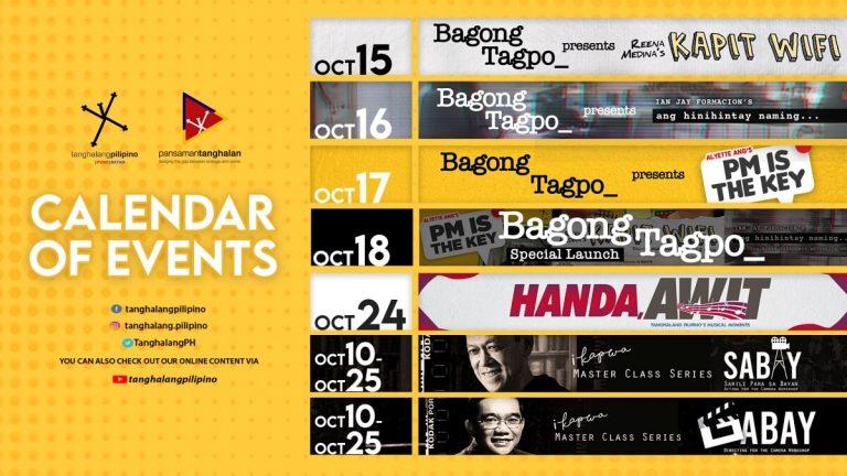 Tanghalang Pilipino Calendar October 2020