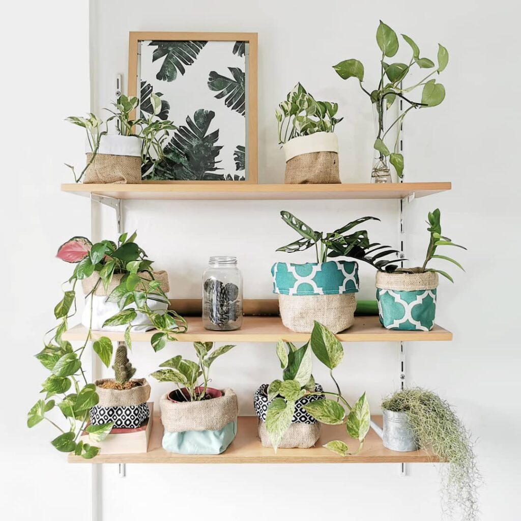 Fabric planters from Simplifist