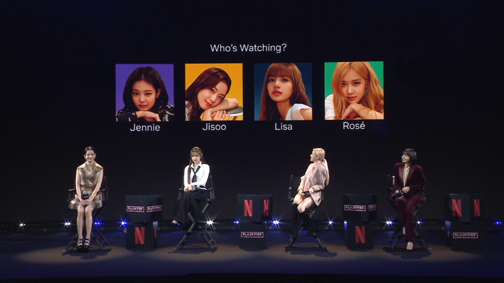 Blackpink during the press conference