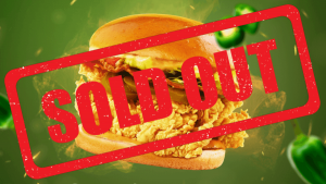 Sold out U.S. Spicy Chicken Sandwich (1)