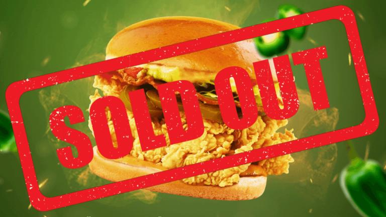 Sold out U.S. Spicy Chicken Sandwich (1)
