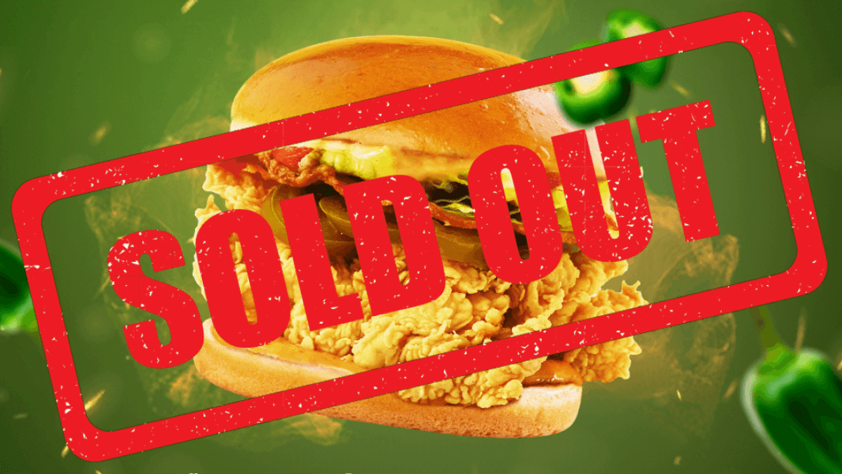 Popeyes' U.S. Spicy Chicken Sandwich Exclusive Pre-Sale Sold Out