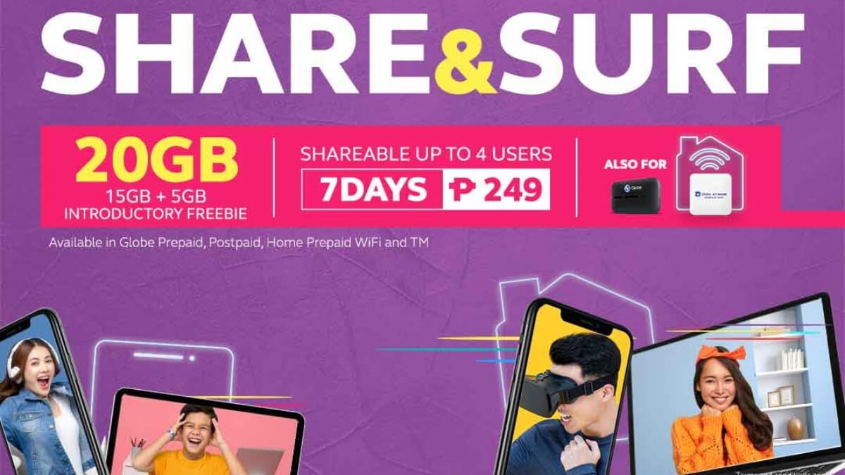 Globe Launches Shareable Data Promo SHARE&SURF249