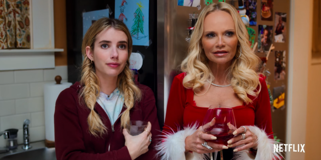 Emma Roberts and Kristin Chenoweth in Holiday