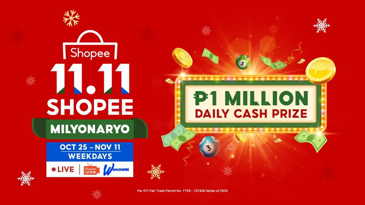 Shopee Milyonaryo Gives Users a Chance to Win Up to 1 Million Pesos Every Day