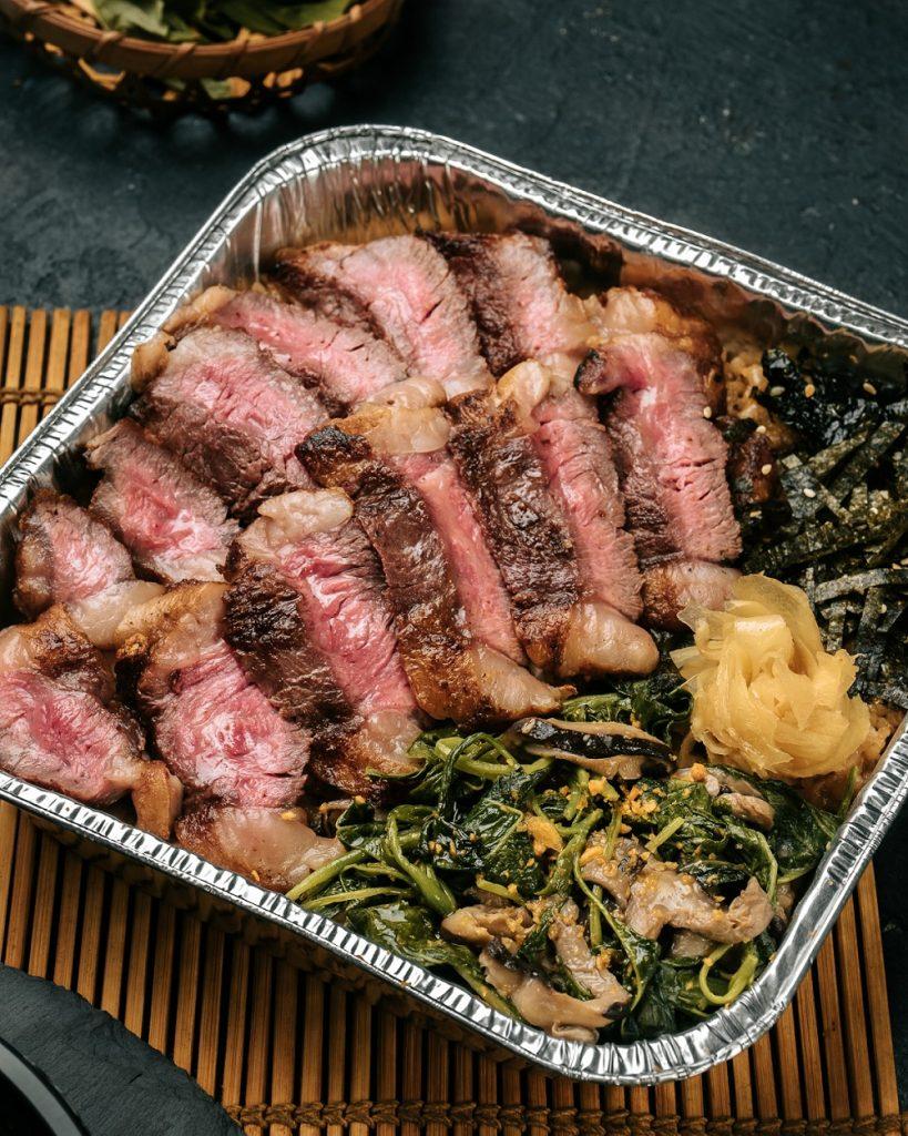 Wagyu Steak Bowl - Ginza Gyu Gang Tray