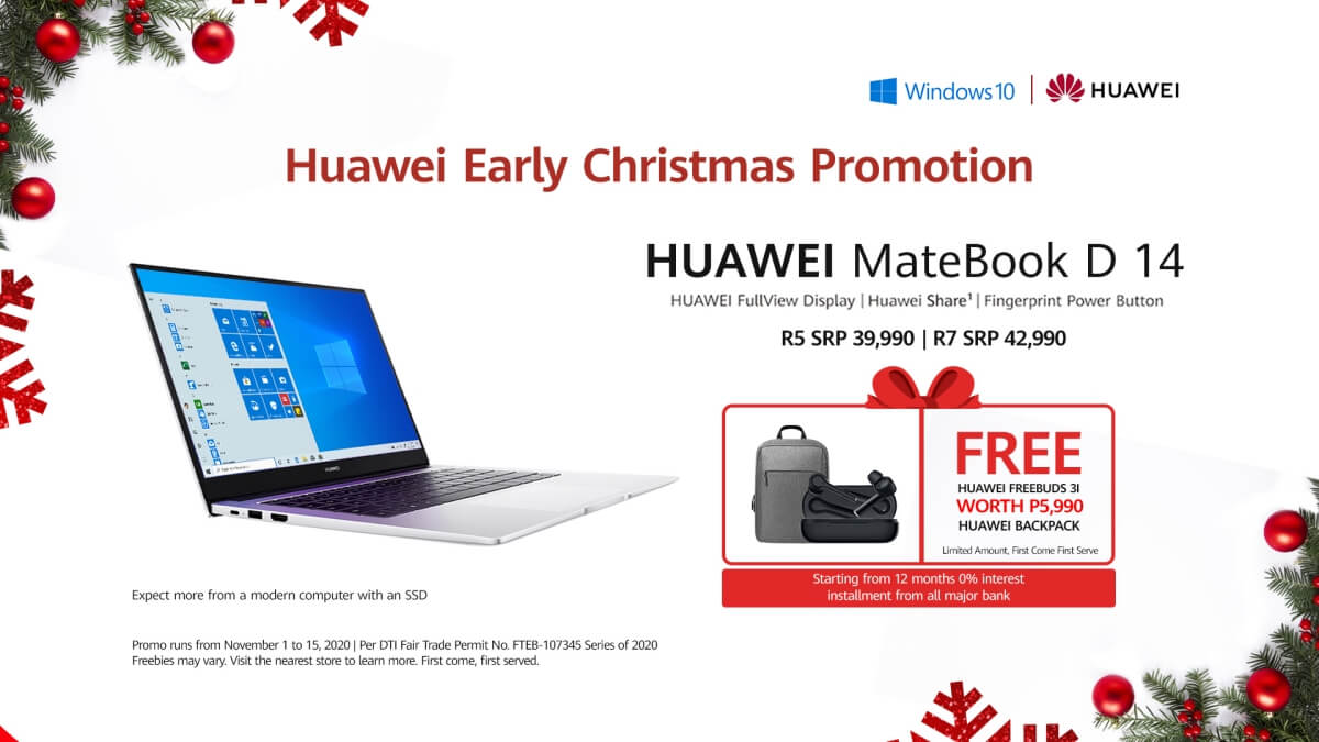 Huawei Gives Out an Early Christmas Treat with their Matebook D14 Promo