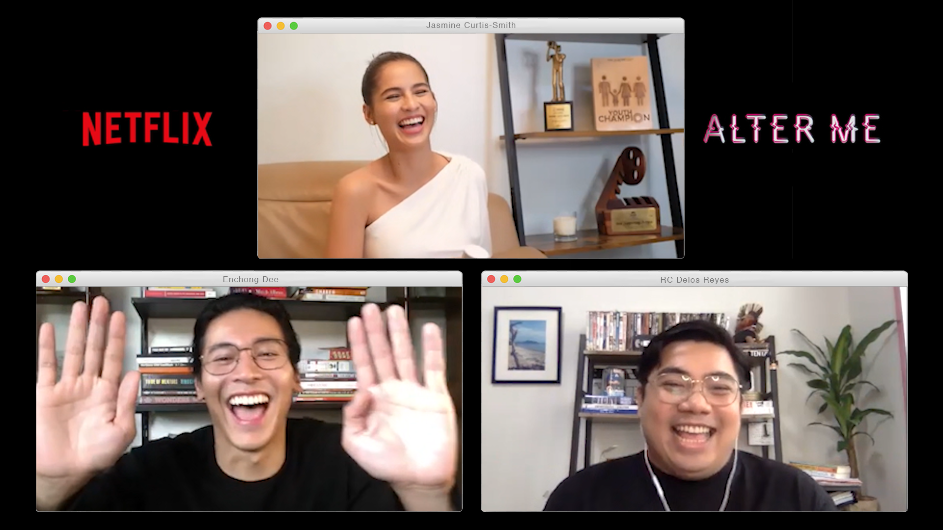 Director RC Delos Reyes, Jasmine Curtis-Smith, and Enchong Dee on Alter Me
