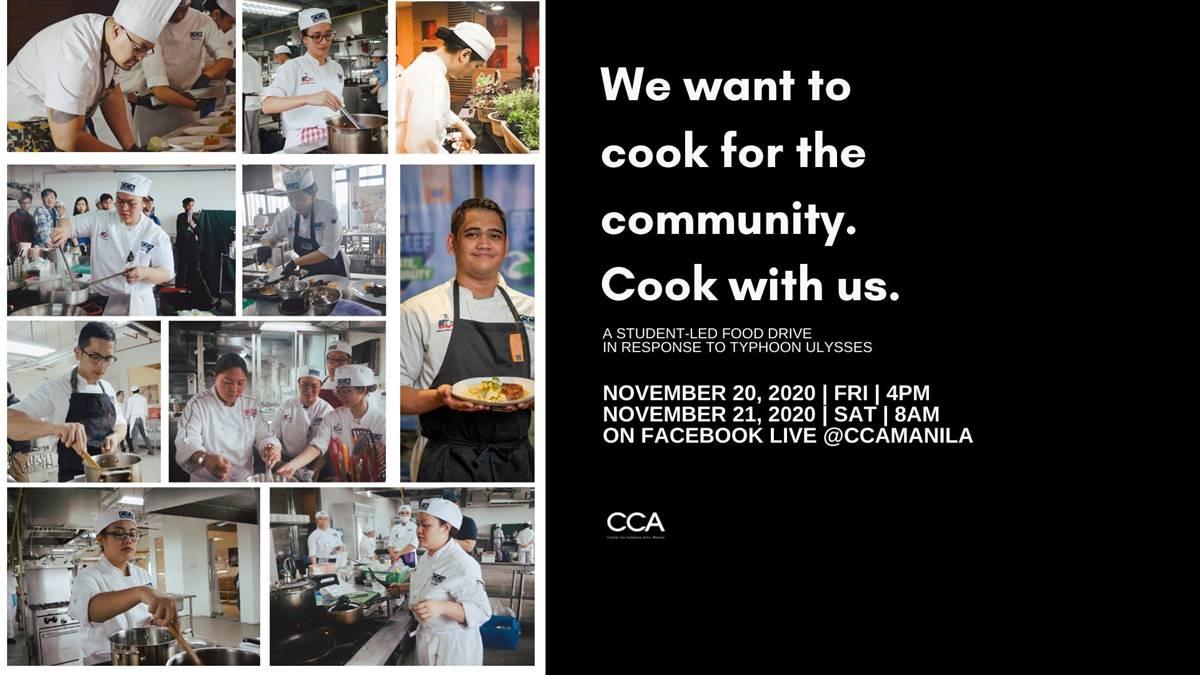 CCA Manila partners with Kusina Kalinga for a food drive