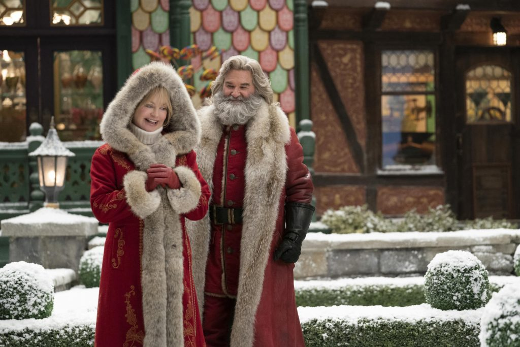 Goldie Hawn and Kurt Russell as Mrs. and Santa Claus in 'The Christmas Chronicles: Part 2'