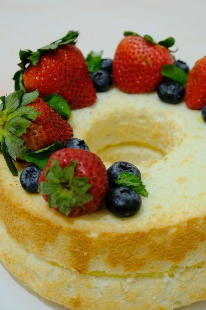 Joyous Lemon Angel Cake